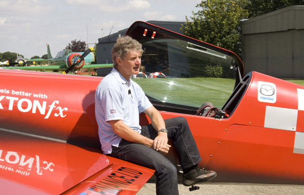 Mark Jefferies with his Extra 330SC at Little Gransden Airfield