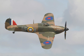 Hawker Hurricane Mk I G-HUPW R4118 UP-W at Abingdon Air & Country Show 2013