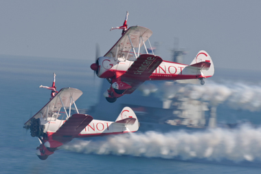 Team Guinot Wingwalkers at Bournemouth Air Festival 2009