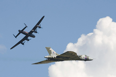 Avro Lancaster and Avro Vulcan at Waddington Air Show 2008