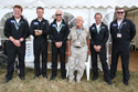 The Blades Display Team with 93 year old veteran at Biggin Hill International Air Fair 2010