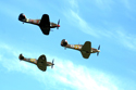 Hawker Hurricanes and Supermarine Spitfire at Biggin Hill International Air Fair 2010