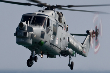 Westland Lynx HAS.3 XZ239 of The Royal Navy Black Cats Display Team at Bournemouth Air Festival 2009
