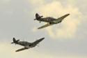 Supermarine Spitfire and Hawker Hurricane at Bournemouth Air Festival 2012
