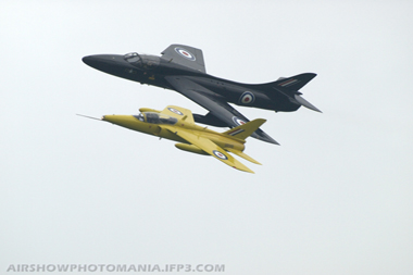 Folland Gnat and Hawker Hunter at Cosford Air Show 2008