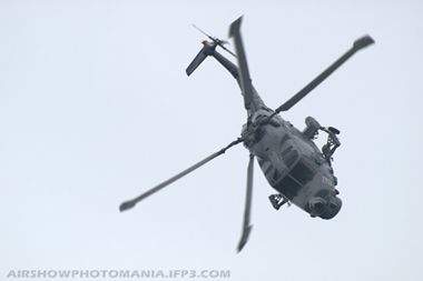 Westland WG-13 Lynx HAS.3S 177 XZ722 of The Black Cats Display Team at Cosford Air Show 2008