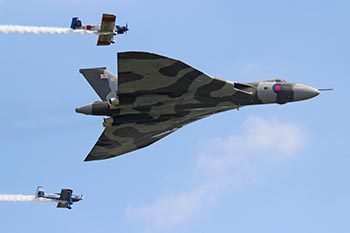 Vulcan B2 XH558 and The RV8tors at RAF Cosford 75th Anniversary Air Show 2013