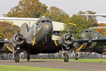 Dakota pair at Duxford Autumn Air Show 2010