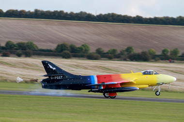 Hawker Hunter F58A G-PSST (cn HABL-003115) Miss Demeanour at Duxford Autumn Air Show 2012