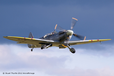 Supermarine Spitfire at Duxford Autumn Air Show 2012