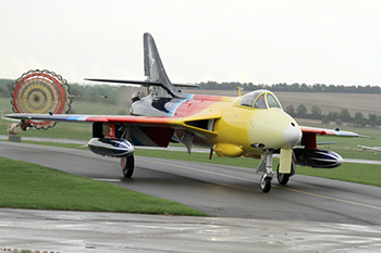 Hawker Hunter F58A G-PSST Miss Demeanour at Duxford Autumn Air Show 2013