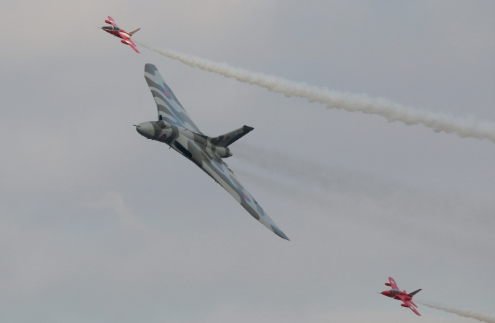 Avro Vulcan And Forland Gnats