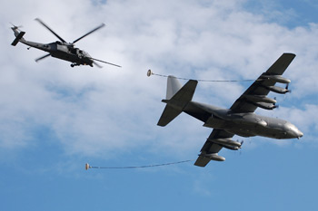 Lockheed C-130 Hercules and Sikorsky MH-60G/HH-60G Pave Hawk at Duxford American Air Day 2009