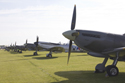 Supermarine Spitfire props in flightline walk at Duxford The Battle of Britain Air Show