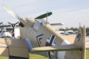 Privately owned Hispano Aviacion HA-1112 (Me 109 Buchon) at Duxford The Battle of Britain Air Show