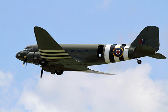 Douglas C-47A Skytrain at The Duxford D-Day Anniversary Air Show