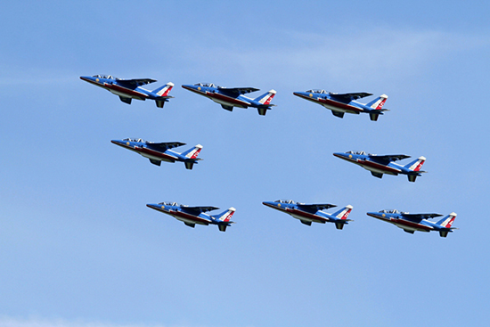 Patrouille de France at The Duxford D-Day Anniversary Air Show