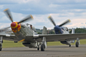 North American Aviation P-51 Mustang pair at Duxford Flying Legends 2008