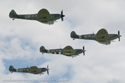 Supermarine Spitfire four-ship formation flight at Duxford Flying Legends 2008