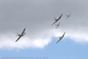 Supermarine Spitfire five-ship formation flight at Duxford Flying Legends 2009