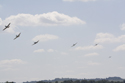 Supermarine Spitfire formation flight at Duxford Flying Legends 2010