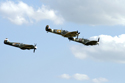 Supermarine Spitfire trio at Duxford Flying Legends 2010