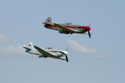 Yakovlev Yak-3UA 172890 F-AZLY and 0470107 D-FJAK/100 at Duxford Flying Legends 2010