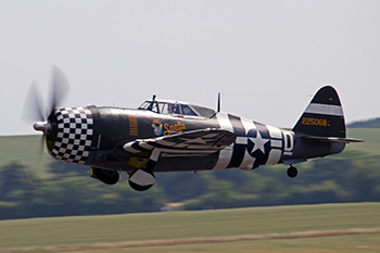 Republic P-47G Thunderbolt G-CDVX/225068/WZ-D Snafu (cn 21953) at Duxford Flying Legends 2013
