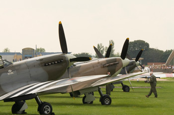 Supermarine Spitfire props line up at Duxford Spitfire Day 2009