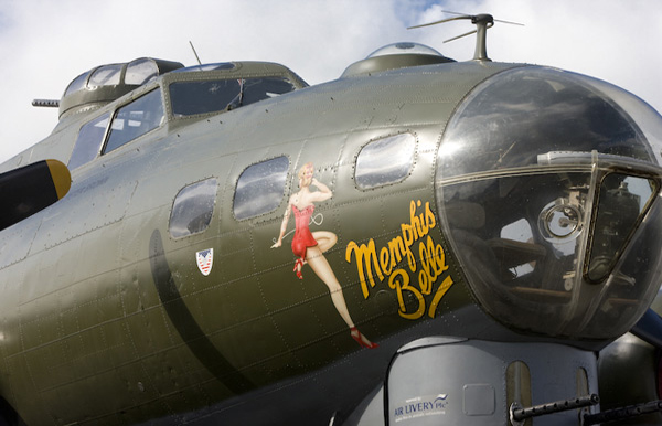 Boeing B-17G-105-VE Flying Fortress 44-85784 G-BEDF Sally B Memphis Belle at Duxford Spring Air Show 2009
