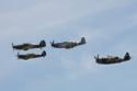 The Eagle Squadron - Hurricane, Spitfire, Mustang and Thunderbolt at Duxford Spring Air Show 2013