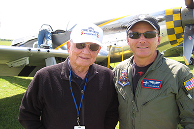 Bud Anderson and Dan Friedkin at Duxford Spring Air Show 2013