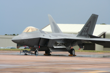 Lockheed Martin (Boeing) F-22 Raptor 04-4082 (FF) 192nd FW at Fairford Air Show (Royal International Air Tattoo) 2008