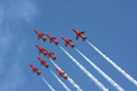 The Red Arrows Aerobatic Display Team at Fairford Air Show (Royal International Air Tattoo) 2010