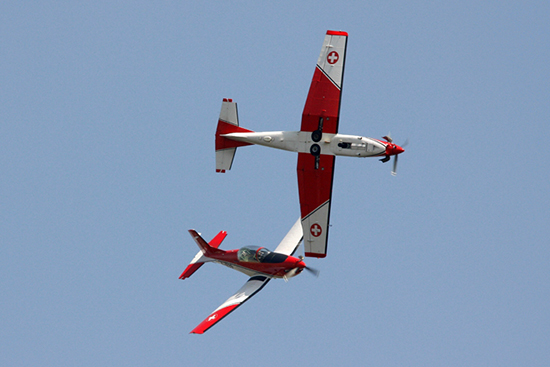 Swiss Air Force PC-7 Team at Fairford Air Show (Royal International Air Tattoo) 2013