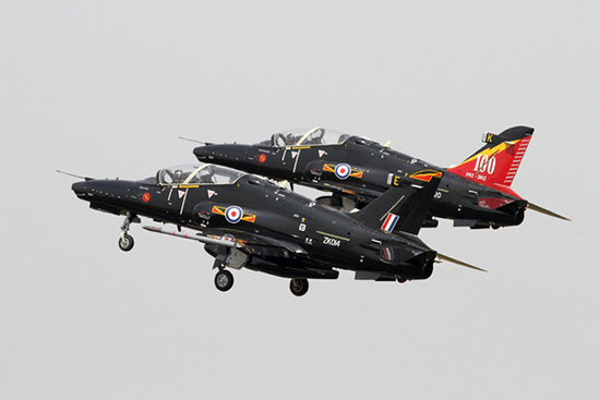 Hawk T2 pair No.4 FTS at Fairford Air Show (Royal International Air Tattoo) 2013