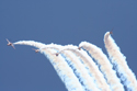The Red Arrows Aerobatic Display Team at Fairford Air Show (Royal International Air Tattoo) 2006