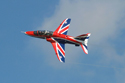 Red Arrows Hawk at Jersey International Air Display 2012