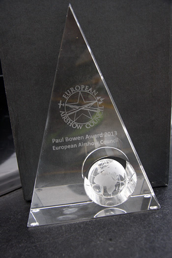 European Airshow Council - Paul Bowen Award 2013