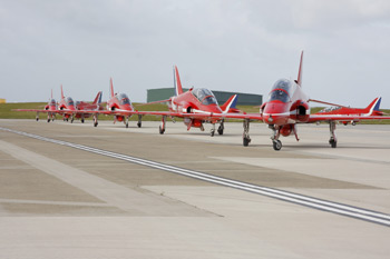 The Red Arrows at Jersey International Air Display 2011