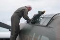 Hawker Hurricane Mk I G-HUPW R4118 pilot at Kemble Air Show 2009