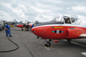 Jet Provost in static aircraft line up at Kemble Air Show 2009