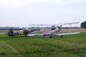 Hagglund & Soner Sk25 (Bu-181B-1) 25071 G-GLSU and Focke-Wulf Fw-44J Stieglitz G-STIG/D-2692 at Little Gransden Air Show 2008