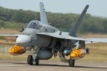 McDonnell Douglas (Boeing) F/A-18A Hornet C15-24 Spanish Air Force at the NATO Tiger Meet 2009 at Kleine Brogel Air Base