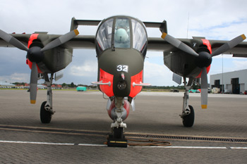 North American Rockwell OV-10B Bronco 338-17 G-BZGK/9932 at the RAF Northolt Photocall Event 2007