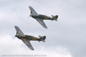 Hawker Hurricane Mk I G-HUPW R4118 and Hawker Sea Hurricane Mk IB G-BKTH Z7015 at Old Warden August Air Show 2009