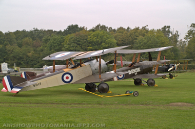 Sopwith Pup, Sopwith Triplane and Bristol M.1C Bullet at Old Warden October Air Show 2007