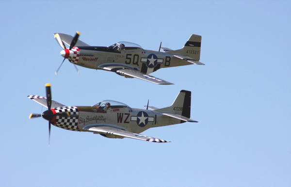 P-51D Mustangs at Shoreham Air Show 2009