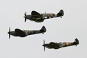 Supermarine Spitfire three-ship formation at Shoreham Air Show 2010