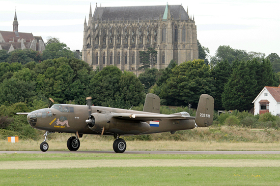 North American B-25 Mitchell 232511/N5-149 Sarinah at Shoreham Air Show 2013